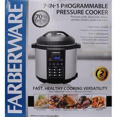 Farberware digital 6 qt pressure cooker black stainless for Fish cooker walmart
