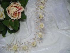 Handmade wedding  bridal rose hair vine £39.99