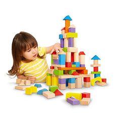 "Imaginarium - Wooden Block Set - - Imaginarium - Toys""R""Us - build 100 block ""castle"" Wooden Blocks For Kids, Wooden Building Blocks, Kids Blocks, Building Toys, Toys R Us, Teaching Shapes, Stacking Blocks, Robots For Kids, Wooden Buildings"