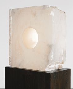 ANISH KAPOOR B.1954 UNTITLED alabaster 72.6 by 67.3 by 29.2cm. Executed in 1997.