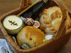 Here is this year's Pascha basket.  The baskets are full of good things which we didn't eat during the Great Fast, like cheese, butter, br...