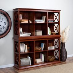 Belham Living Hampton Console Table Stackable Bookcase - Cherry - Bookcases at Hayneedle