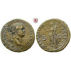 Römische Kaiserzeit, Titus, Caesar, Dupondius 77-78, ss-vz: Titus, Caesar 69-79. Messing-Dupondius 29 mm 77-78 Lyon. Kopf r. mit… #coins