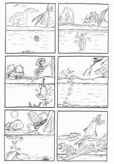 """6 images séquentielles de l'abum: """"la promesse"""" de Jeanne Willis et Tony Ross aux éditions Gallimard jeunesse - dis bonjour au soleil"""