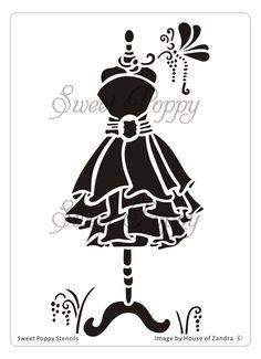 Sweet Poppy Stencil: Dress 2 - Chloe