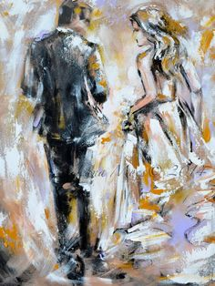 Print on Canvas from Original Abstract Fashion by lanasfineart