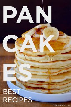 Whip up the ultimate family-friendly breakfast with classic and creative pancake recipes. And don't miss our tips for perfect pancakes! Best Homemade Pancakes, Best Pancake Recipe, Pancake Recipes, Pancakes Easy, Fluffy Pancakes, Good Food, Yummy Food, Delicious Recipes, Breakfast Casserole Easy