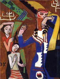 Poster Design for the Jubilee Procession of the Kaiser, 1908 -Oskar Kokoschka - by style - Expressionism Franz Marc, Kandinsky, Klimt, Dresden, Max Oppenheimer, Statues, George Grosz, Expressionist Artists, Great Works Of Art