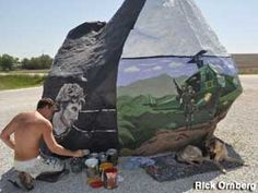 Freedom Rock, Menlo Iowa...what a talented young man!