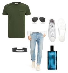 """""""Casual Night Out"""" by daisytroyer on Polyvore featuring Polo Ralph Lauren, Oliver Spencer, Converse, Givenchy, Dior Homme, Davidoff, men's fashion and menswear"""