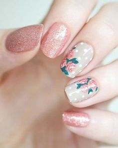 Flowers do not always open, but the beautiful Floral nail art is available all year round. Choose your favorite Best Floral Nail art Designs 2018 here! We offer Best Floral Nail art Designs 2018 .If you're a Floral Nail art Design lover , join us now ! New Nail Designs, Nail Designs Spring, Acrylic Nail Designs, Acrylic Nails, Gel Nails, Manicures, Nail Nail, Toenails, Nail Designs Floral