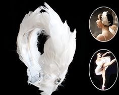 Ballerina Swan Feathers Headband Wedding Bridal Bridesmaids Headpiece Hair Accessories