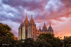 Salt Lake City Temple by Phill Monson