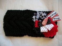 Women's Knit Detroit Red Wings NHL Hockey Shabby by BadCatCraft