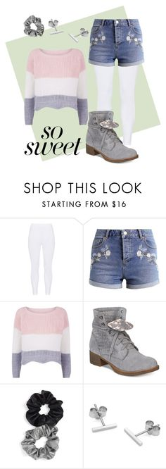 """""""Pastel Sweater + Jean Shorts"""" by alleyhays ❤ liked on Polyvore featuring Gozzip, Miss Selfridge, American Rag Cie, Berry and Myia Bonner"""