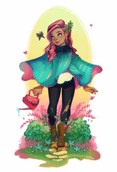 Bought an awesome poncho and can't wait to wear it in Autumn, :) In the meantime here is a springtime poncho ~