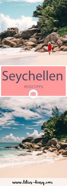Seychellen Urlaub: Wer träumt nicht von diesem paradiesischen Reiseziel mitten im Indischen Ozean. Wir haben die drei Inseln Mahè, Praslin und La Digue mit dem Katamaran bereist und jede Menge Reisetipps im Gepäck gehabt. Kommt mit und staunt über die Trauminseln der Seychellen. Mehr Infos auf dem Reiseblog Lilies Diary. Africa Destinations, Best Honeymoon Destinations, Africa Travel, Mauritius, Romantic Travel, Seychelles, Caribbean, Safari, Travel Tips