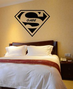 Boys Room Art Decor Wall Decal Superman Symbol Super by HappyWallz, $34.99