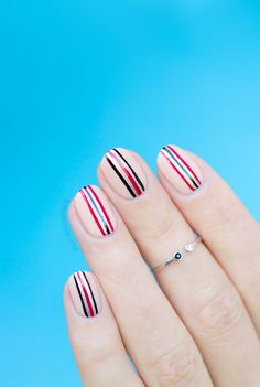 Minimalist nail art.