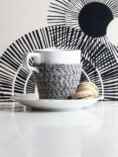 Häkelmantel für die Teetasse