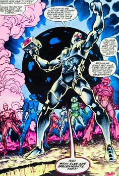 ROM and the Spaceknights.  Art by Sal Buscema.