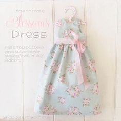 Get the pattern and tutorial for making a Maileg look-a-like Rabbit and this dress from Shabby Art Boutique