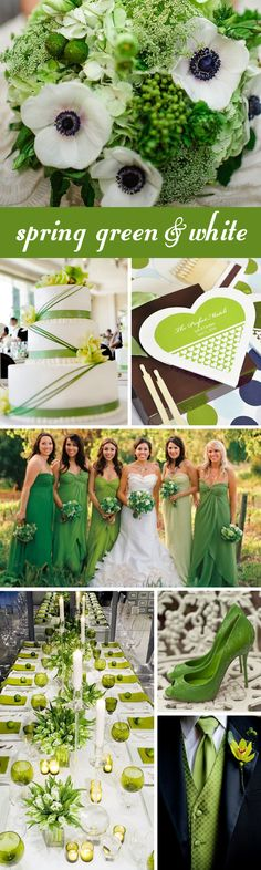 Love this - spring green and white wedding inspiration!