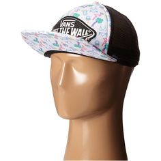 Vans Beach Girl Trucker Hat (Neon Lights Tropical) Caps (79 RON) ❤ liked on Polyvore featuring accessories, hats, truck caps, cap hats, snap cap hats, snap brim cap and snap caps