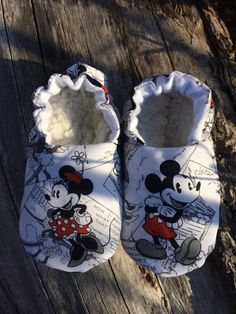 Mickey vintage y zapatos de Minnie Mouse bebé por Creationscomeau 7914972a7c9
