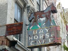 Bay Horse Cafe ghost sign, Cincinnati