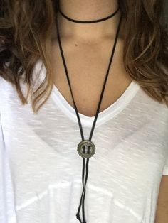 Leather Wrap Around Bolo Tie Necklace by GreenEGGsnCamDesigns