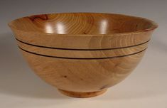 Texas Pecan Wood Bowl Turned Wooden Bowl number 5975