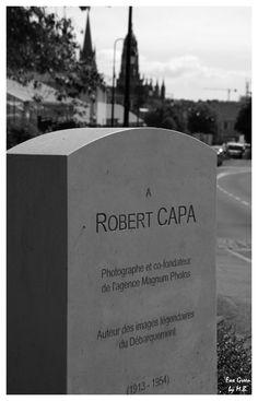 Robert Capa monument - Bayeux  France