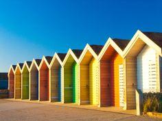 Beach huts by bobf62, via Flickr