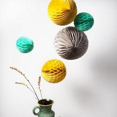 """Limobebe - for modern babies :: decoración :: decoración paredes y ventanas :: bolas """"honeycombs"""" retro"""
