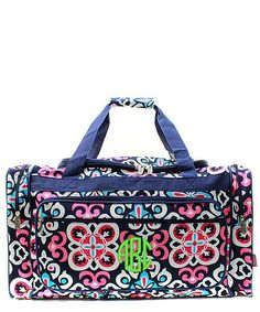 """Personalized Hip Moroccan Navy Duffle Bag Large 23"""""""
