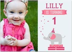 first baby girl birthday party decoration | Baby's First Birthday Party Ideas and Invitations to Match