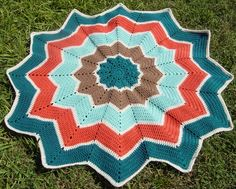 Rainbow Ripple Baby Afghan made for Kira.