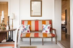 Entry by French & French Interiors love the bold stripe