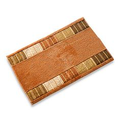 Sierra Terracotta Bath Rug  - copper color bathroom mat