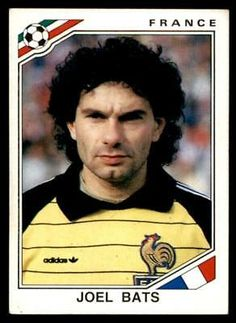 Panini Mexico 86 - Joel Bats France No. Bats, Albums, Mexico, France, Stickers, Baseball Cards, Sports, Hs Sports, Sport