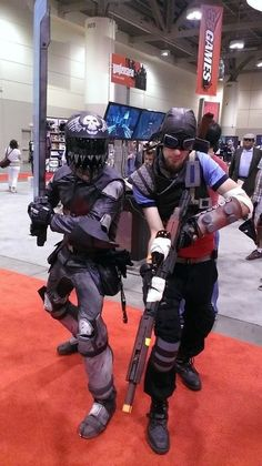 Zer0 and Mordecai from Borderlands 2 #cosplay