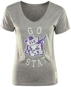 Retro Brand Women's Kansas State Wildcats Graphic T-Shirt