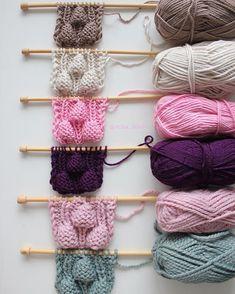 By Mariza Crochet Designer: Blusa Tricot Bubbles . Baby Knitting Patterns, Knitting Stitches, Hand Knitting, Crochet Patterns, Knit Headband Pattern, Knitted Headband, Pull Crochet, Knit Crochet, Crochet Motifs