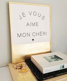 """Je Vous Aime Mon Cheri - 9 x 12"""" Print"""