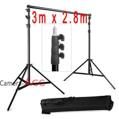 2.8m x 3m Photo Studio Background Backdrop Support Stand Kit + Free Carry Bag in Cameras & Photography, Lighting & Studio, Backdrops | eBay!