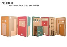 My Space by Liya Mairson - pop-up cardboard play area for kids
