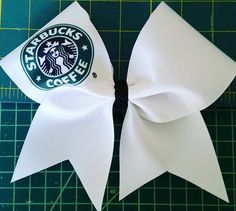 Starbucks Cheer Bow by Just Cheer Bows #justcheerbows #cheer #bows http://www.justcheerbows.com