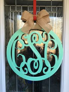 A personal favorite from my Etsy shop https://www.etsy.com/listing/499313804/3-letter-monogram-door-hanger-monogram