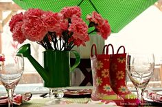 April Showers Bring May Flowers Tablescape by coconutheadsurvivalguide.com